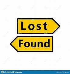 Lost And Found Sign Lost And Found Sign Stock Vector Illustration Of Arrival