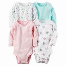 carters sleeve onesies carters baby 4 pack sleeve original bodysuits