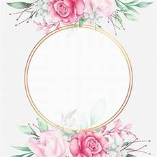 Nice Wedding Background Romantic Wedding Frame With Watercolor Flowers Pattern And