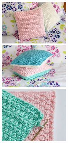 free pillow cover crochet pattern for home decorating