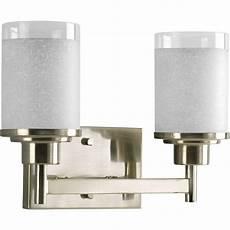 Intertek Lighting Home Depot Progress Lighting Alexa Collection 2 Light Brushed Nickel