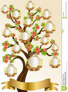 Family Tree Pics Template Family Tree Template Stock Vector Illustration Of