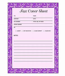 Free Printable Fax Sheet 9 Fax Cover Sheet Templates Free Sample Example
