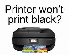Hp Printer Not Printing Black My Printer Won T Print Black