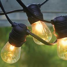 Commercial Outdoor String Lights Black 54 Commercial Grade Heavy Duty Outdoor String