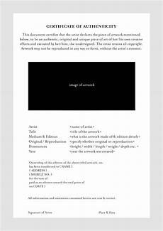 Certificate Of Authenticity Template Certificate Of Authenticity Photography Planner Template