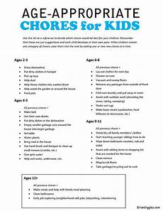 Chore Chart For 6 Year Old Age Appropriate Chores For Kids With Free Printable Kids