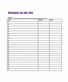 Google To Do List Template Free 8 Sample Weekly To Do List Templates In Pdf