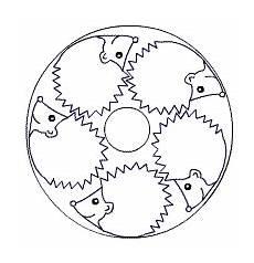igel mandala igel igel ausmalbild und steppmuster