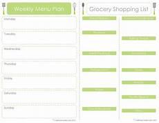 Menu Planner Template Free Printable Craft Sew Create Free Printable Menu Plan Shopping List