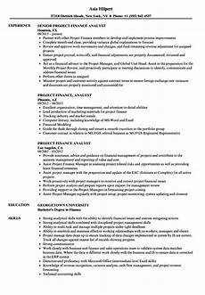 Project Analyst Resume Sample Project Finance Analyst Resume Samples Velvet Jobs