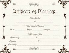 Printable Marriage Certificate Marriage Certificate Format 7 Blank Editable Formats