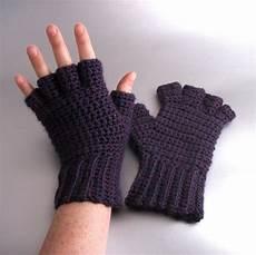 plum mist half finger crochet gloves