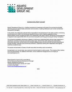 Cover Letter For Business Development Manager Cover Letter Sample For Business Development Executive