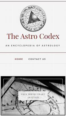 The Astro Codex An Encyclopedia Of Astrology Birth