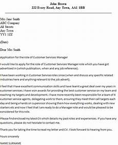 Cover Letters For Customer Service Customer Services Manager Cover Letter Example Icover Org Uk