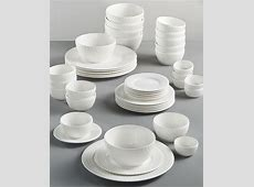 Gibson White Elements 42 pc Dinnerware Sets, Created for
