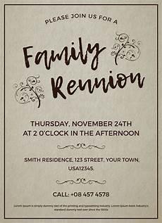 Reunion Flyer Template Family Reunion Invitation Template Family Reunion