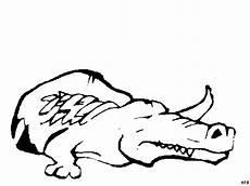 krokodil auf der lauer ausmalbild malvorlage tiere