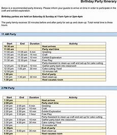 itinerary format party itinerary templates samples for word amp excel