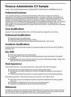 Admin Cv Examples Uk Curriculum Vitae Samples For Accounting Jobs