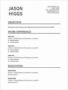 Traditional Resume Templates Traditional Cv Templates Land The Job With Our Free Word