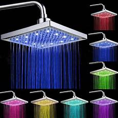 Rain Shower With Led Lights 8 Quot Inch 7color Led Light Stainless Steel Rain Shower Head