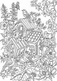 Printable Coloring Pages For Seniors Birdhouse Printable Coloring Page From Favoreads