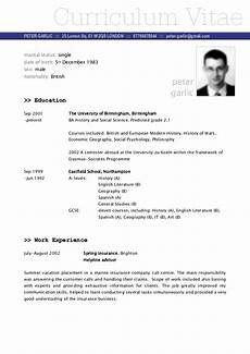 Sample Of A Cv Cv Example Fotolip Com Rich Image And Wallpaper