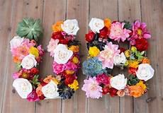 letras con flores como hacer letras con flores