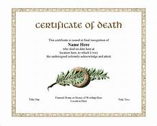 Death Certificate Print Out 6 Death Certificate Templates Psd Ai Illustrator Word