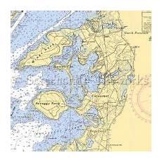 Chart House Cataumet Massachusetts Cataumet Nautical Chart Decor Nautical