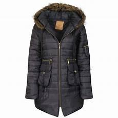 xl coats parka hooded padded jacket womens faux fur zip