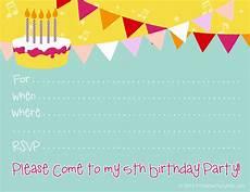 Free Digital Birthday Invitations Free Birthday Party Invitations For Girl Free Printable