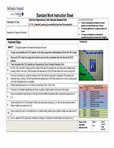 Work Instruction Form Standard Work Instruction Sheet Fill Online Printable
