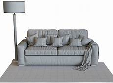 Sofa Sleepers Size 3d Image by Maxwell Premium Leather Sleeper Sofa 3d Model For Corona