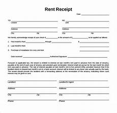 Rent Receipt Form Sample Rent Receipt Form Template 7 Free Documents In Pdf