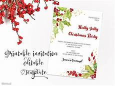Printable Christmas Party Invitations Free Templates Printable Christmas Party Invitation Template Christmas