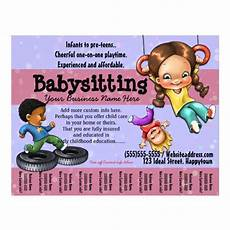 Free Daycare Flyer Templates Babysitting Day Care Customizable Template Flyer Zazzle Com