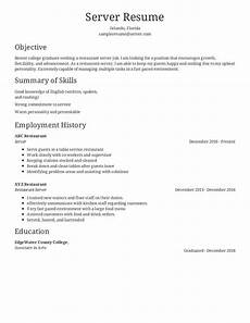 Restaurant Resume Real Restaurant Server Resume Critique Resume Com