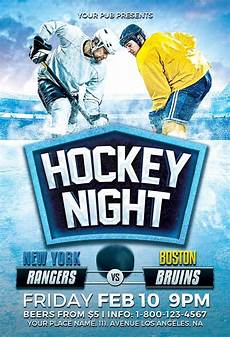 Hockey Flyer Template Hockey Night Flyer Template Download Ice Hockey Flyer