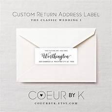 Custom Return Label Custom Wedding Return Address Label Quot The Classic Wedding