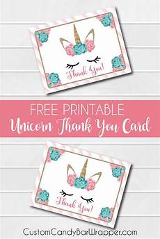Make Thank You Cards Free Free Printable Unicorn Thank You Cards Announce It