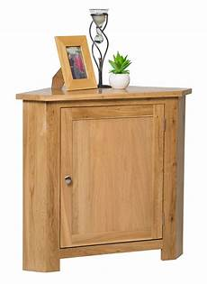 small oak corner storage cupboard low cabinet with shelf