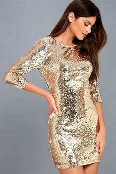 Light Gold Sequin Dress Stunning Sequins Dress Light Gold Dress Bodycon Dress