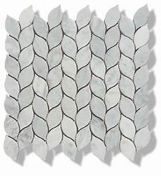 Leaf Tile Lights 12 Quot X12 Quot Carrara Marble Leaves Polished Mosaic Tiles