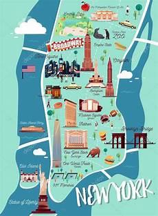 New York Malvorlagen Pdf New York Manhattan Illustration Map Stock Vector