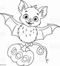 Fledermaus Ausmalbilder Ausdrucken Bat For Coloring Page Stock Illustration