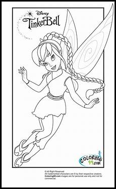 tinkerbell and friends coloring pages team colors