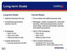 Example Of Long Term Goals U S Bancorp Overview Performance Capital Management